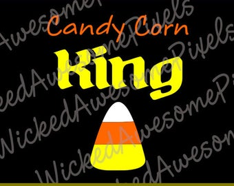 Halloween SVG, Candy Corn King SVG png eps dxf png eps dxf files Cricut File Silhouette Cameo File