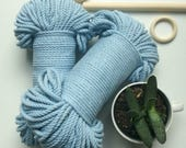 Soft Baby Blue* 5mm thick, 90 meters long, colored cotton rope bundle, coloured macrame cord, macrame supplies, craft supplies,
