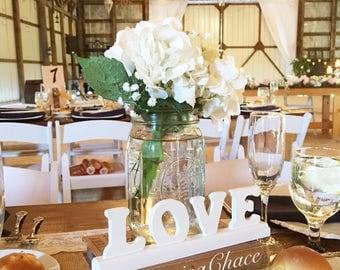 Wooden love sign - Love sign - Love Wood Sign - Love Wooden Sign - Stand - Wedding Centerpiece - Wedding Centerpieces - Wedding Decor