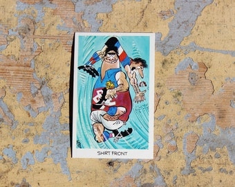 "1972 Sunicrust - No.32 Shirt Front  ""Weg's Footy Funnies"" Collector Cards"