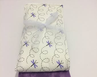 Dragonfly Flannel Burp Cloth Duo