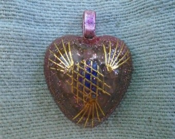 Orgonherz, a heart for children, radiation protection, protection amulet, unique