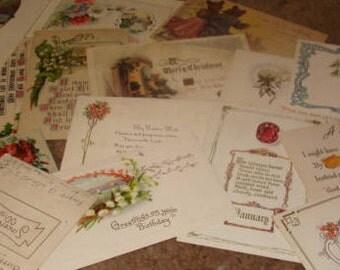 30 Vintage Postcards (CRAFT LOT #2)