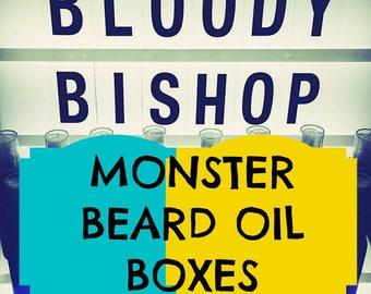 BEARD OILS BOX < -vegan- Bloody Bishop oils  >>>> -Free world wide shipping !!!!! -
