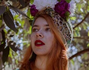 "Flower Crown ""My beloved"" | Free UK Shipping | Festival Headwear | Hippie Boho Accessory | Summer Headpiece | Frida Kahlo Inspired"