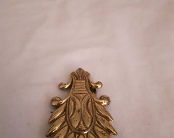 Antique Fur/Dress Clip - Art Deco - Gold Tones - Rhadium Plated - 1920's