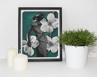 Vintage Flower Print, Vintage Flower Poster, Vintage Flower Wall Art, Vintage Dior Print, Dior Poster, Dior Wall Art, Botanical Print