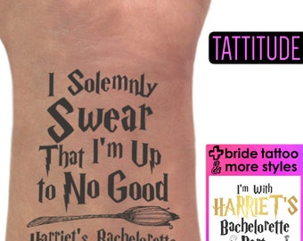 Harry Potter Party Tattoos I Solemnly Swear That I am Up To No Good Favors | from muggle to mrs, accio me a butterbeer, pott