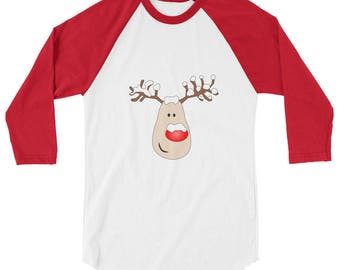 Rudolph - 3/4 sleeve raglan shirt