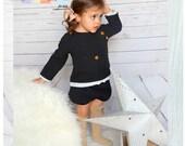 Conjunto de sudadera y bombacho  2 PATRONES de Costura en PDF ** tallas de 6 meses a 6 años **  Bebes y  niñas Diseño español
