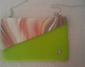 Pochette in eco leather hand made Diletta Style