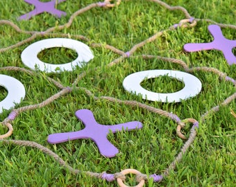 Tic Tac Toe yard game, Personalized game, Wedding game, Family game, Giant yard game, Yard game, Lawn game