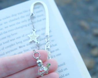 Turtle bookmark, Special bookmark, Tortoise bookmark, Animal bookmark, Glow in the dark, Glowing in the dark accessory, Glowing bookmark.