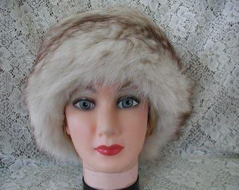 Vintage Fox Fur Hat...Fabulous Fox Fur Hat