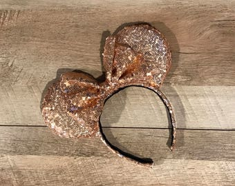 Rose Gold Sequins Ears | Rose Gold Sequin Ears | Sequins Ears | Sequin Ears | Disney Ears | Mickey Ears | Minnie Ears