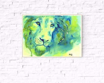 Lion art, *Digital, lion art, African lion, lion artwork, lion, lion painting, lion watercolor, art, artwork,buy, lion painting, watercolor