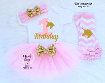 1st Birthday Outfit, First Birthday Outfit Girl, Unicorn Birthday Outfit, 1st Birthday Girl Outfit, First Birthday Girl, Birthday Gift BF20