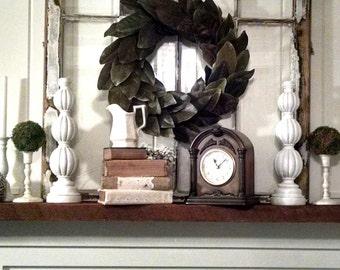 Natural magnolia wreath~fixer upper style~farmhouse wreath~large magnolia wreath