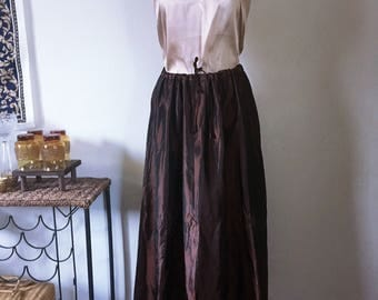 Vintage Dark Brown Godiva Chocolate Maxi Skirt ~Large - XL