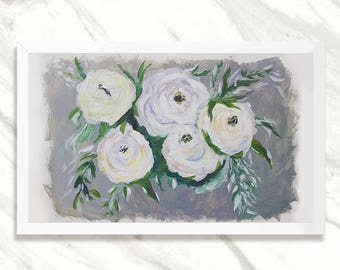 Print - Flowers Art Painting