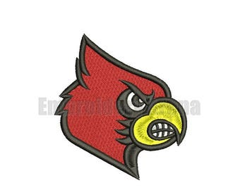 Football embroidery design - (Louisville Cardinals) - instant DOWNLOAD digital file
