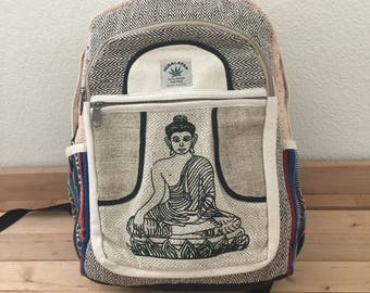 Unique Natural Fabric Handmade Hemp School,College,Travel,Laptop Backpack(Free Shipping USA)