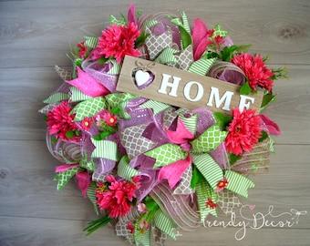 Summer Wreath, Floral Wreath, türkranz sommer