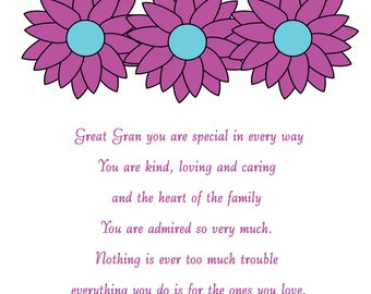 Great Gran Mothers Day Card 1
