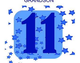 Grandson 11th Bithday Card