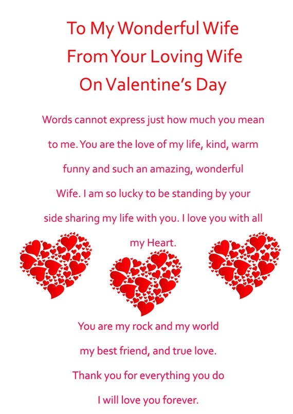 Wife Valentines Day Card from your Wife 2