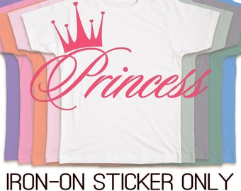 Iron On Princess Crown Heat Transfer Vinyl Sticker for Cloth