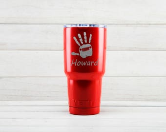 Yeti Tumblers Engraved With Jeep Personalized Yeti Tumblers 20 oz Jeep Yeti Gift For Men Jeep Yeti Rambler 30 oz Gift