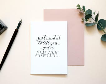 You're Amazing | Thankyou Card | Encouragement Card | Thank You Card | Anniversary Card For Husband | I Love You Card | Card For Friend
