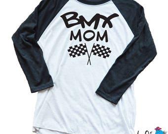 Race Mom Shirt - Custom Racing Mom Long Sleeve Shirt - Race Day Shirt - Proud Racing Mom - Motocross Mom - BMX - Go Kart Mom - Flattrack