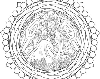 Adult coloring pages,book a mandala.Zentangle style illustration.