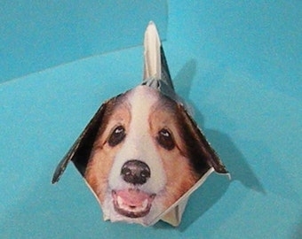mini Origami collie puppy