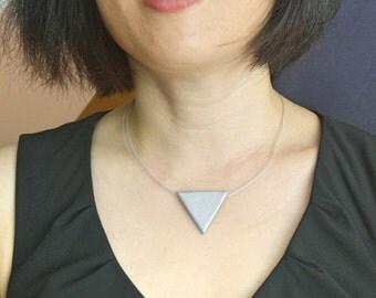 Silver Geometric Pendant Necklace- Minimalistic Style
