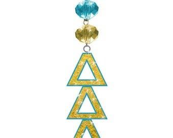 DDD Logo Bling - Delta Delta Delta Sorority MAGNETIC ORNAMENT/Ddd Decor/Ddd Ornament/Delta Delta Delta Dorm Room Decor