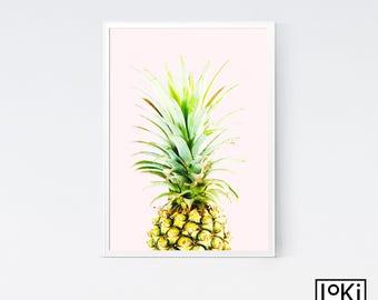 Pineapple Print, Pineapple Poster, Pineapple Wall Art, Pineapple Poster Art, Fruit Print, Fruit Poster Art, Fruit Wall Print, Fruit Poster