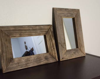 Rustic Accent Mirrors | Reclaimed Wood | Farmhouse Decor