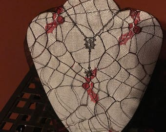 Spider from the Web Dangle Necklace