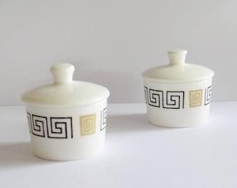 Pair of small pots with lids - Royal Doulton - The mandarin - Bone China - vintage