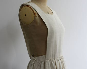 Vintage 1970s Pinafore Dress