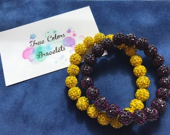 LSU Tigers Purple and Gold Game Day Bracelet