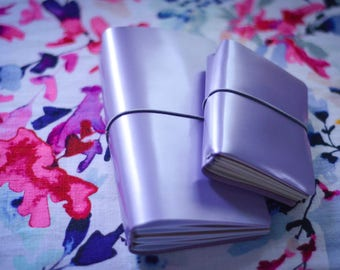 Traveler's Notebook - Purple - Pearl - Leather - Notebook - Comes With Inserts - Limited Edition