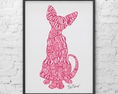 LIMITED EDITION signed A3 Tender Gary art print, Bob Mortimer's Twitter cat names, donation to Cat's Protection UK for every sale