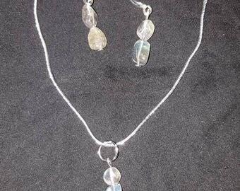 Labradorite set on a silver chain