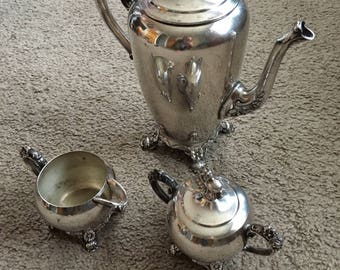 Vintage Eton Silver Tea Set
