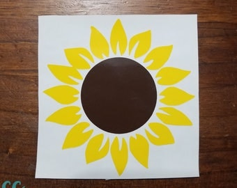 Sunflower/Yeti Decal/Sunflower Decal/Flower/Car Decal/Initial Decal/Sunflowers