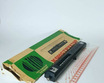 """Drawing device -  Vintage Measuring Device - Measuring instrument - Made in Russia - """"Constructor""""."""